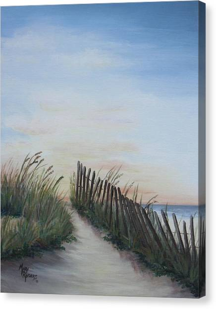 Sweet Tea Canvas Print - Seaside Sunrise by Mary Rogers