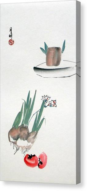 Seasonal Flowers Canvas Print by Ming Yeung