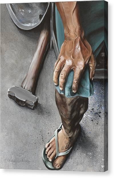 Hammers Canvas Print - Seasoned By Life by Wendy Ballentyne