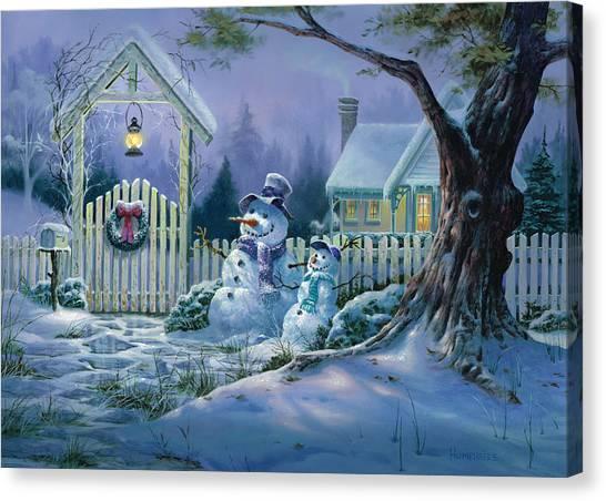 Season's Greeters Canvas Print