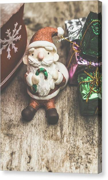 Present Canvas Print - Seasons Greeting Santa by Jorgo Photography - Wall Art Gallery