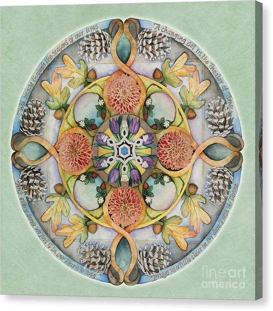 Seasons Mandala Canvas Print