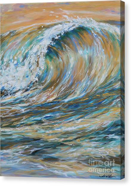 Seaspray Gold Canvas Print