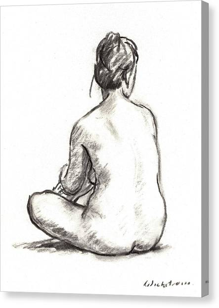 Seated Female Nude Canvas Print