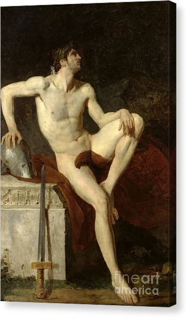 Slavery Canvas Print - Seated Gladiator by Jean Germain Drouais