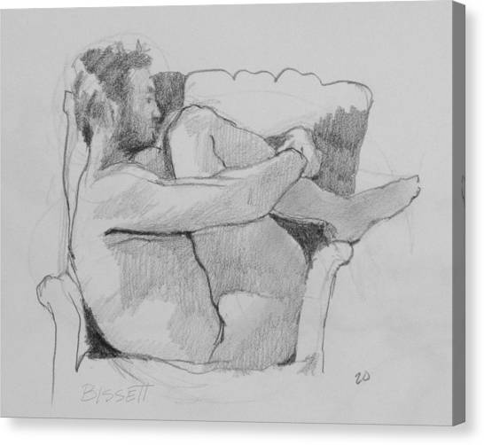 Seated Nude 1 Canvas Print by Robert Bissett