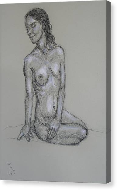 Seated Nude 6 Canvas Print by Donelli  DiMaria
