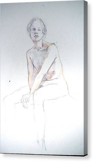 Seated Study 2 Canvas Print