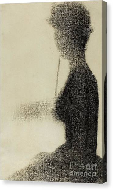 Post-impressionism Canvas Print - Seated Woman With A Parasol  by Georges Pierre Seurat