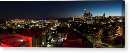 Seattle City And Port Canvas Print