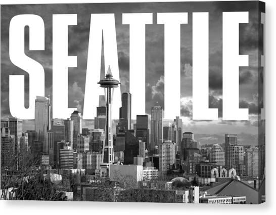 Seattle Sounders Fc Canvas Print - Seattle Cityscape by David Richardson