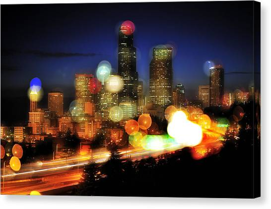 Seattle Color Spots C086 Canvas Print by Yoshiki Nakamura