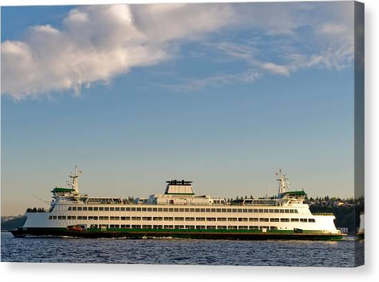 Seattle Ferry Canvas Print by Tom Dowd