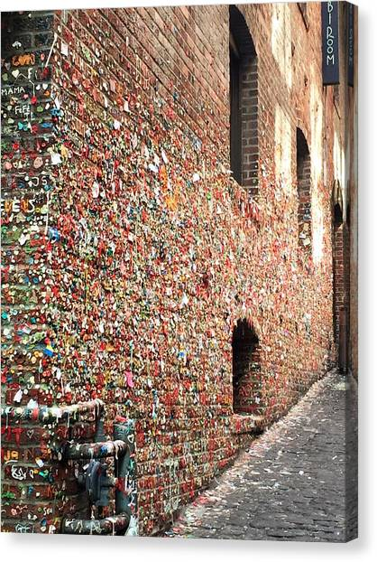 Canvas Print - Seattle Gum Wall by Julia Breheny