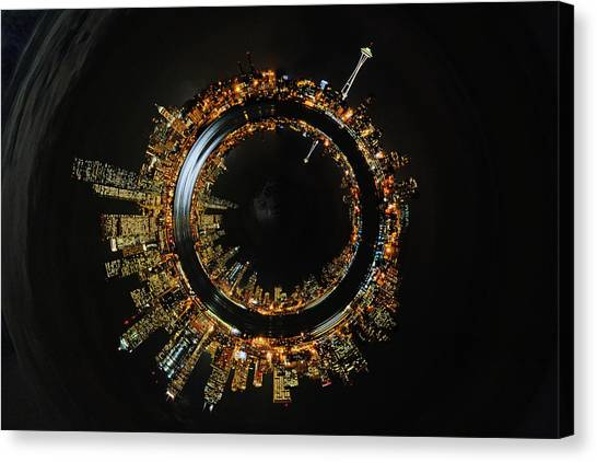 Seattle Inside And Out D054 Canvas Print by Yoshiki Nakamura