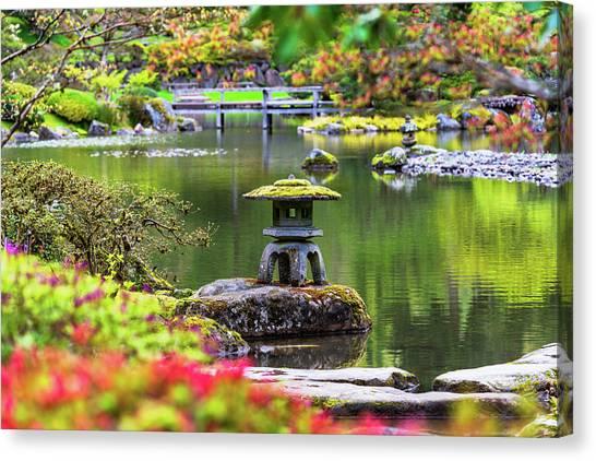 Seattle Japanese Garden Canvas Print