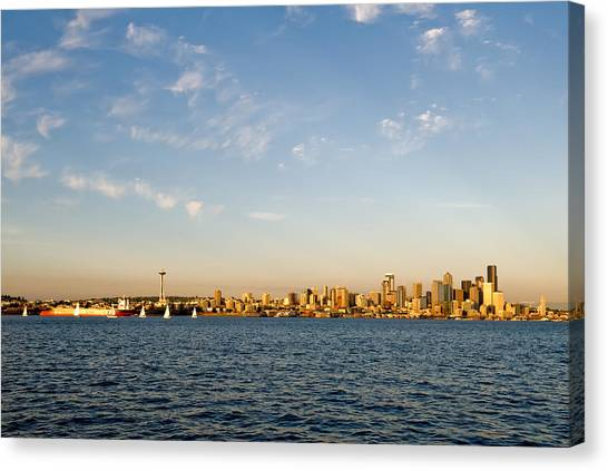 Seattle Landscape Canvas Print by Tom Dowd