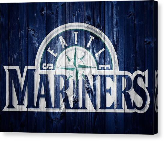 Seattle Mariners Canvas Print - Seattle Mariners Barn Door by Dan Sproul