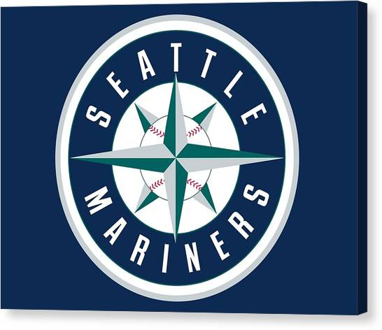 Seattle Mariners Canvas Print - Seattle Mariners by Super Lovely