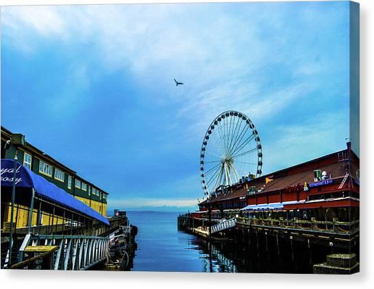 Seattle Pier 57 Canvas Print