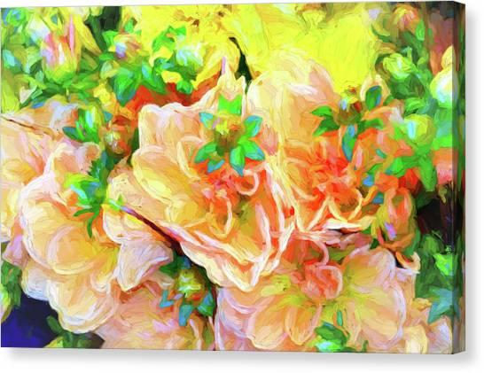 Seattle Public Market Flowers Canvas Print