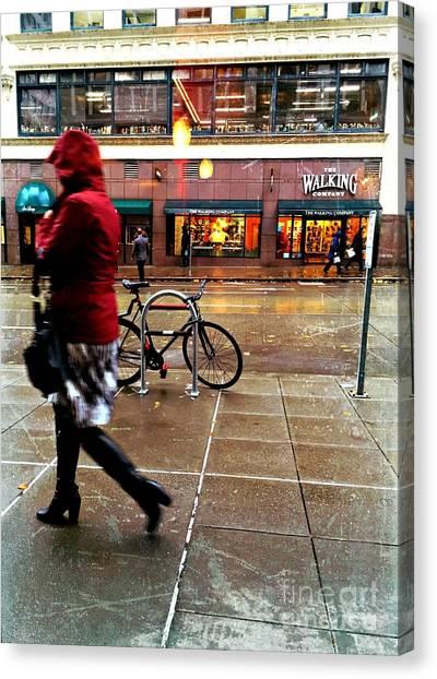Seattle Rain Canvas Print