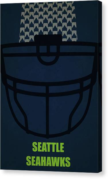Seattle Seahawks Canvas Print - Seattle Seahawks Helmet Art by Joe Hamilton