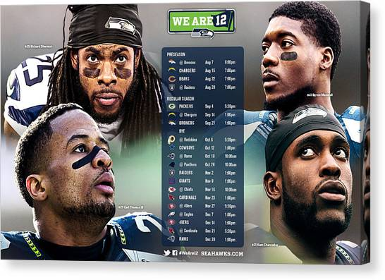 Seattle Seahawks Canvas Print - Seattle Seahawks by Maye Loeser