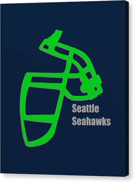 Seattle Seahawks Canvas Print - Seattle Seahawks Retro by Joe Hamilton