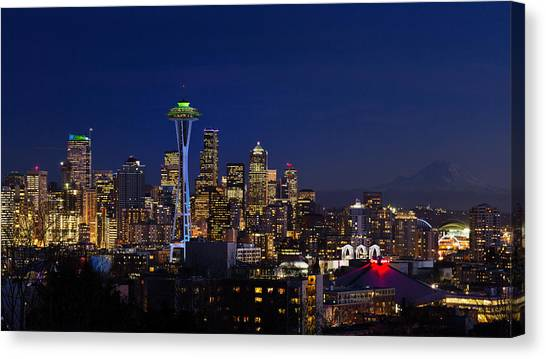 Seattle Seahawks Space Needle Canvas Print