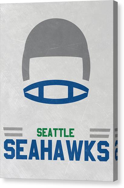 Seattle Seahawks Canvas Print - Seattle Seahawks Vintage Art by Joe Hamilton