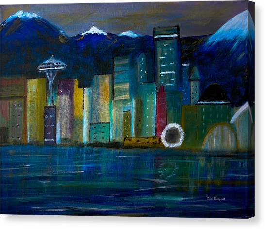 Seattle Skyiline Canvas Print