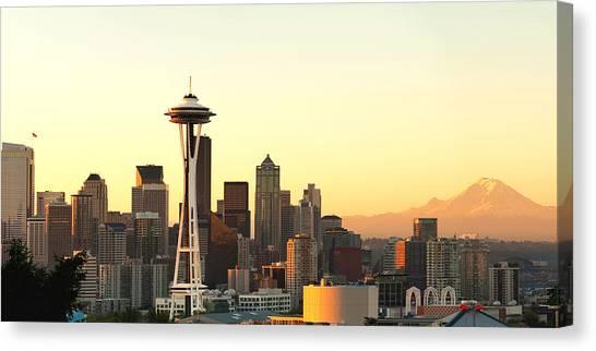 Seattle Skyline Canvas Print - Seattle Skyline From Kerry Park by Alvin Kroon