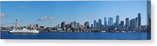 Space Needle Canvas Print - Seattle Skyline Panorama by Twenty Two North Photography