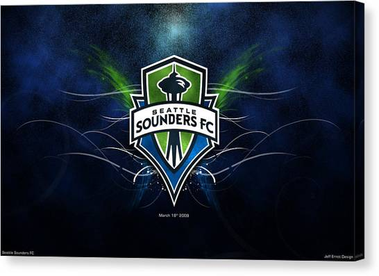 Seattle Sounders Fc Canvas Print - Seattle Sounders Fc by Dorothy Binder