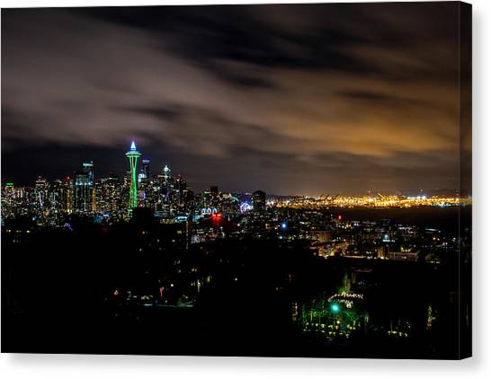 Mls Canvas Print - Seattle Sounders Space Needle by Matt McDonald