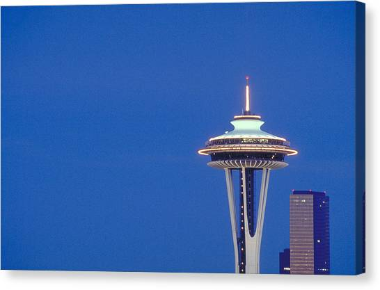 Seattle Space Needle Canvas Print by Greg  West