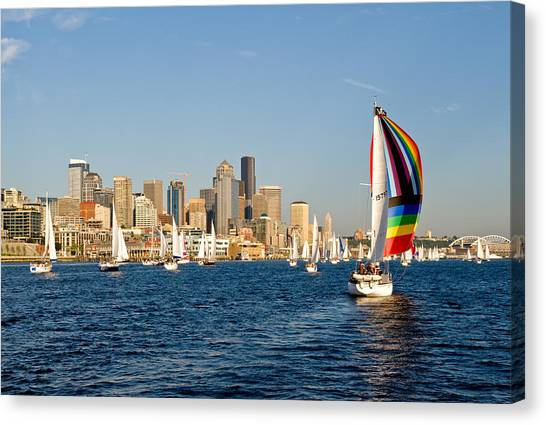 Seattle Tack Canvas Print by Tom Dowd