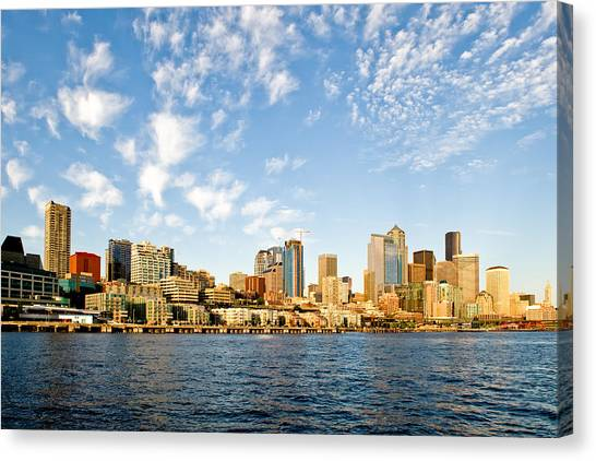 Seattle The Emerald City Canvas Print by Tom Dowd