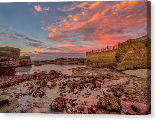 Surf Lifestyle Canvas Print - Seawall II by Peter Tellone