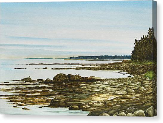 Seawall Mt. Desert Island Canvas Print