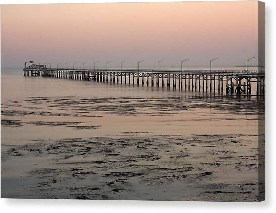 Big West Canvas Print - Seaweed And Pier by Art Block Collections