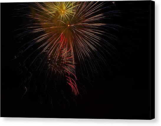 Seaworld Fireworks 3 Canvas Print