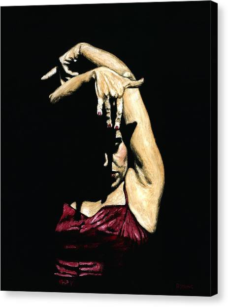 Flamenco Canvas Print - Seclusion Del Flamenco by Richard Young