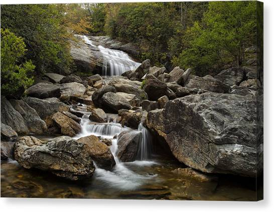 Blue Ridge Parkway Canvas Print - Second Falls - Blue Ridge Falls by Andrew Soundarajan
