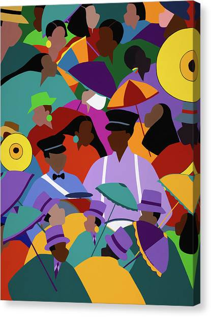 Canvas Print - Second Line New Orleans by Synthia SAINT JAMES