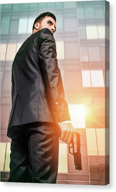 Cia Canvas Print - Secret Agent 5 by Carlos Caetano