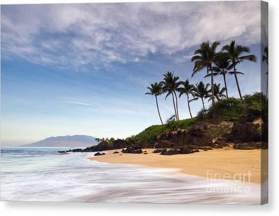Beach Sunrises Canvas Print - Secret Beach Maui Sunrise by Dustin K Ryan