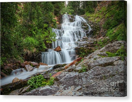 Canvas Print featuring the photograph Secret Falls by Spencer Baugh