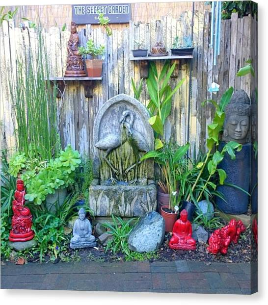 Gardens Canvas Print - Secret Garden Seen In An Ally Way In by Shari Warren